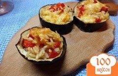 Фото рецепта: «Зразы из синих с рисом, сыром и помидорами»