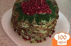 """Фото рецепта: «Печеночный торт """"Печень и сердце""""»"""