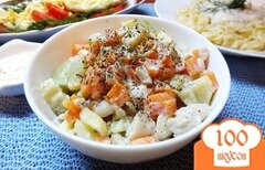 Фото рецепта: «Салат с отварной рыбой»