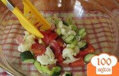 Фото рецепта: «Овощной салат с сардельками»