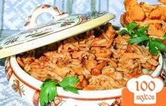 Фото рецепта: «Лисички, жареные в сметане»