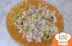 "Фото рецепта: «салат ""крабовые палочки""»"