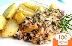 Фото рецепта: «Подосиновики в сливочном соусе»