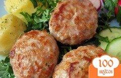 Фото рецепта: «Котлеты с грибами в духовке»