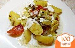 Фото рецепта: «Говядина с летними овощами запеченная в рукаве»