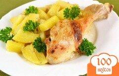 Фото рецепта: «Курица с картошкой в сметане»