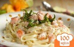 Фото рецепта: «Семга в сливочно-чесночном соусе»