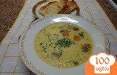Фото рецепта: «Суп грибной белый»