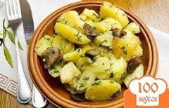 Фото рецепта: «Маслята с картошкой в мультиварке»