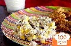 Фото рецепта: «Африканский гарнир из картофеля, кукурузы и гороха»