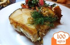 Фото рецепта: «Имбирный стейк из масляной рыбы»