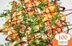 Фото рецепта: «Салат с курицей и жареными овощами»