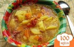 Фото рецепта: «Гороховый суп с копченой колбасой»