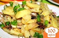 Фото рецепта: «Сморчки, жареные с картошкой»