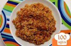 Фото рецепта: «Рис с тушенкой в мультиварке»