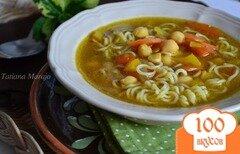 Фото рецепта: «Суп с нутом и лапшой»