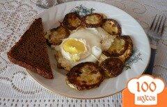 Фото рецепта: «Глазунья с кабачком»