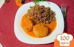 Фото рецепта: «Тефтели под томатно-сметанным соусом»