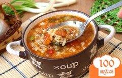 Фото рецепта: «Рисовый суп с чечевицей и томатами»