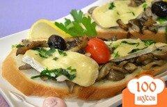 Фото рецепта: «Грибы с сыром на сковороде»