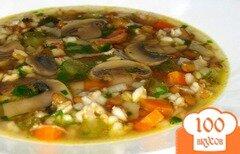Фото рецепта: «Грибной суп с чечевицей»