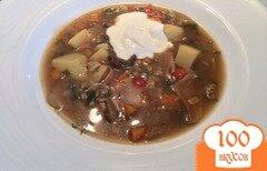 Фото рецепта: «Суп из сушёных белых грибов с перловкой.»