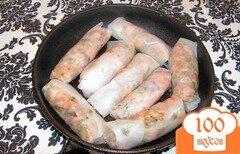 Фото рецепта: «Рисовые блинчики с лососем»
