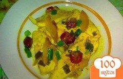 Фото рецепта: «Куриное филе с нектарином и клюквой»