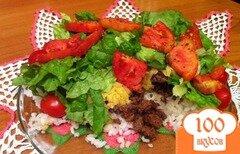 Фото рецепта: «Рис с фаршем на сковороде»