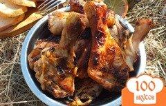 Фото рецепта: «Шашлык из вымоченных куриных голеней»