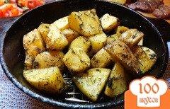 Фото рецепта: «Картофель запеченный в специях и травах»