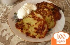 Фото рецепта: «Картофельно-кабачковые оладьи»