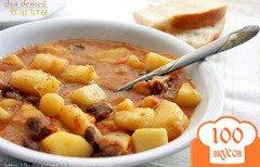 Фото рецепта: «Картошка, тушеная с мясом (как в д/садике)»