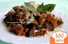 Фото рецепта: «Рагу из баклажан с оливками и базиликом»