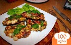 Фото рецепта: «Куриные котлеты с грибами и сыром»