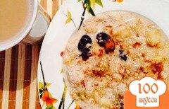 Фото рецепта: «Запаренная овсянка с фруктами»