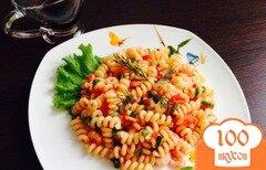 Фото рецепта: «Макароны с креветками»