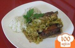 Фото рецепта: «Свиные ребрышки с капустой»