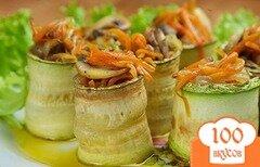 Фото рецепта: «Рулет из кабачков с грибами»