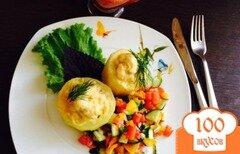 Фото рецепта: «Кабачки, фаршированные куриным филе»