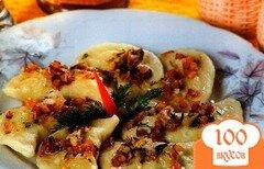 Фото рецепта: «Вареники с салом и картошкой»