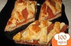Фото рецепта: «Пирог из песочного теста с айвой»
