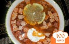 Фото рецепта: «Суп с колбасой в мультиварке»
