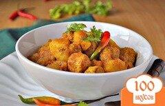 Фото рецепта: «Гуляш соевый с помидорами»