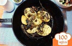 Фото рецепта: «Картофель в шкурке с грибами»