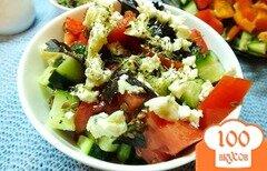 Фото рецепта: «Салат овощной с сыром Дор-Блю»