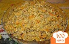 Фото рецепта: «Печень с морковью и луком»