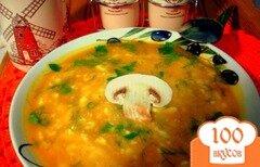 Фото рецепта: «Тыквенный суп пюре с грибами»