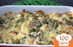 Фото рецепта: «Запеканка с колбасой»