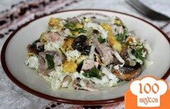 Фото рецепта: «Салат мясной с грибами»